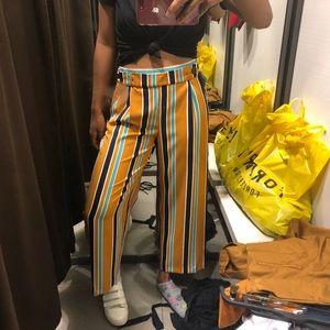 Zara trf striped trousers